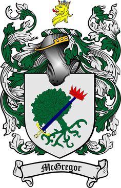 McGregor coat of arms / familiy crest copyright www.4crests.com
