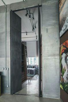 Industrial Loft, Industrial Design, Loft Studio, Studio Apartment, Art  Decor, House Tours, Lofts, Loft Style, Decor Interior Design