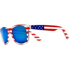 2b9cfbc7a66 American Flag Wayfarer Sunglasses Glasses  Show your patriotism and support  for the USA in style with these American flag-printed wayfarer style  sunglasses.