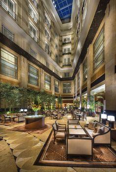 Sunlit Atrium Lobby