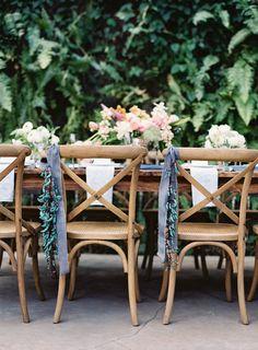 Dusky Blue Wedding Ideas: Decorations & Details for a dusky blue colour sheme, think dusky blue and gold, dusky blue and pink. Dusky Blue Wedding, Green Wedding, Wedding Shot List, Low Key Wedding, Simple Wedding Decorations, Wedding Centerpieces, Table Decorations, Wedding Chairs, Wedding Tables