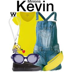 Inspired by Minion Kevin from the Despicable Me/Minions franchise.