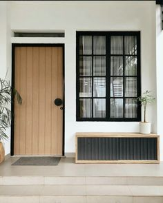 Minimal House Design, Modern Small House Design, Minimal Home, Home Room Design, Dream Home Design, Home Interior Design, House Architecture Styles, House Entrance, Industrial House