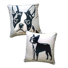 Terriers Found it at Wayfair - Doggie Style Reversible Boston Terrier Pillow - You'll love the Doggie Style Reversible Boston Terrier Cotton Throw Pillow at Wayfair - Great Deals on all Décor Boston Terriers, Boston Terrier Temperament, Boston Terrier Love, Bull Terriers, Terrier Breeds, Terrier Puppies, English Terrier, American Bull, Decoration