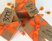 15 Halloween Favors box - Fall Party Favor packaging