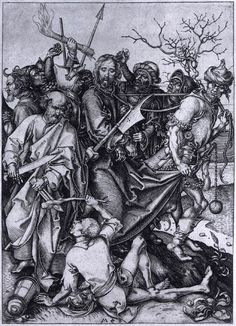 Martin Schongauer - Betrayal and Capture of Christ - c. 1480 ...