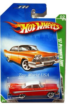 from the 2009 Super Treasure Hunt series. The Plymouth boasts copper Spectraflame paint with white and silver stripes on the sides, and a white roof. It has clear windows, white interior, Real… Hot Wheels Treasure Hunt, Super Treasure Hunt, Treasure Hunting, Custom Hot Wheels, Hot Wheels Cars, Voitures Hot Wheels, Carros Hot Wheels, Hot Wheels Display, Plymouth Fury