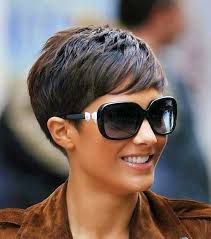Image result for pixie haircut with side swept bangs thick hair