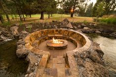 DIY fire pit designs ideas - Do you want to know how to build a DIY outdoor fire pit plans to warm your autumn and make s'mores? Find inspiring design ideas in this article. outdoor fire pit 50 DIY Fire Pit Design Ideas, Bright the Dark and Fire the Bored Rustic Fire Pits, Metal Fire Pit, Diy Fire Pit, Fire Pit Backyard, Fire Pit Gazebo, Brick Fire Pits, How To Build A Fire Pit, Large Fire Pit, Wood Burning Fire Pit