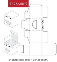 package for object vector illustration of box package template