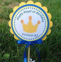 Royal First Birthday Little Prince by inspirationsdesign on Etsy, $5.00