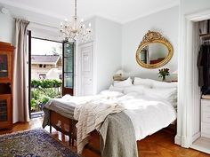 Curtains, white walls