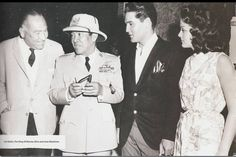 The first President of Indonesia SOEKARNO met The King of Rock and Roll ELVIS PRESLEY with Hal Wallis and Joan Blackman (Hawaii, April 21 1961