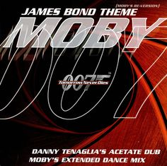 "For Sale - Moby James Bond Theme (Moby's Re-Version) UK Promo  12"" vinyl single (12 inch record / Maxi-single) - See this and 250,000 other rare & vintage vinyl records, singles, LPs & CDs at http://eil.com"