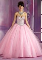 92bd8be727 Elegant Light Pink And Blue Tulle Puffy Lace Up Detachable Quinceanera  Dresses Debutante Dress 15 Years