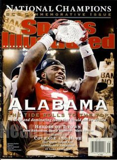 "2012 Trent Richardson Alabama Crimson Tide Commemorative Sports Illustrated . $19.95. BR>1213 Boyles Houston, Tx 77020 713.672.2793 Date: 1/19/2012 Cover: Trent Richardson - Alabama Crimson Tide (No Mailing Label) Condition: (Newsstand) This is an original Sports Illustrated Magazine from the above date. This is the entire commemorative magazine with no mailing label. Feel free to check out our ""Me"" page above for a link to the nation's largest inventory of back-..."