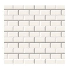 Daltile Rittenhouse Square White 3 in. x 6 in. Glazed Ceramic Bevel Wall Tile at The Home Depot - Mobile White Bathroom Tiles, White Tiles, Creme Color, Ceramic Wall Tiles, Tile Installation, Glazed Ceramic, Beautiful Wall, Wall Treatments