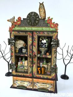Graphic 45 Rare Oddities Candy Drawer Cabinet with Sizzix by Shelly Hickox