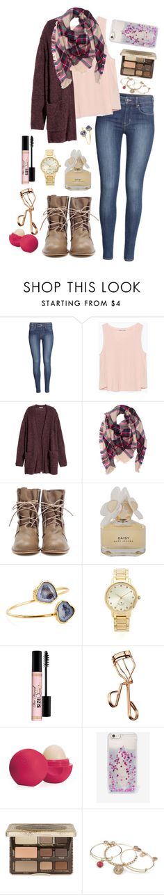 """""""Happy New Years"""" by sunshine915 ❤ liked on Polyvore featuring H&M, Zara, Marc by Marc Jacobs, Janna Conner, Kate Spade, Too Faced Cosmetics, Tweezerman, Eos, Skinnydip and Alex and Ani"""