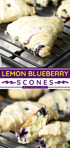 Learn how to make Blueberry Scones with a lemon glaze — you are only a few steps away! No need to be a professional for baking up the perfect pastry for Mother's Day brunch. Tender, flaky, and melt-in-your-mouth good, this easy breakfast idea must be on the menu! Blueberry Scones Recipe, Blueberry Breakfast, Blueberry Recipes, Breakfast Cake, Fruit Recipes, Lemon Recipes Easy, Baking Recipes, Healthy Recipes, Recipes