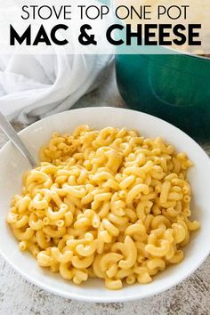 One Pot Mac and Cheese is so easy and made in about 15 minutes right on your stove top! You'll love how creamy, flavorful, and cheesy this crowd pleaser is! Cheese Recipes, Pasta Recipes, Dinner Recipes, Cooking Recipes, Healthy Recipes, Veg Recipes, Spicy Recipes, Yummy Recipes, Healthy Food