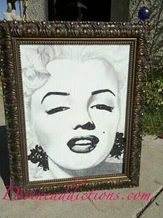 Crushed German Glass painting  Marilyn for the Mayors Ball By Stephani Chandler www.divineaddictions.com