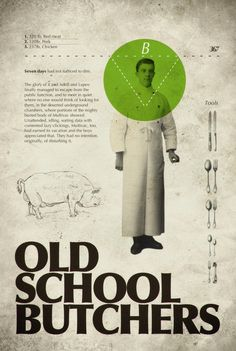 """Bernat Fortet (Barcelona, Spain), """"Old school butchers"""", Make Something Cool Every Day, 2009 Page Design, Book Design, Poultry For Sale, Guy Ritchie, Butcher Shop, Publication Design, Gifts For Photographers, Important Facts, Square Photos"""