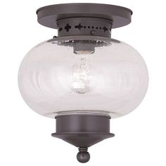 Harbor Bronze 95 Inch One Light Semi Flush Mount