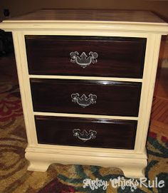 Artsy Chicks Rule . : Super Easy Way to Update Wood Stained Furniture