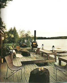Thom Felicia's lake house deck