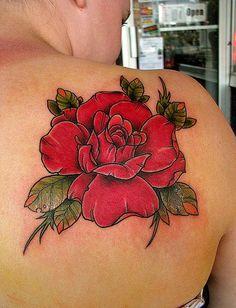 Rose Flower Vintage Tattoo