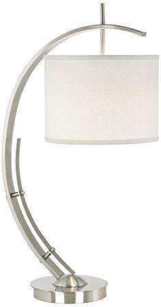 Brushed Steel Vertigo Arc Modern Table Lamp - EuroStyleLighting.com
