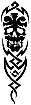 Tribal Skull Tattoo