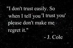 I trust you.