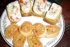 Sýrová roláda s kuřecí náplní a letní sýrová roláda