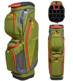20bb4f0d0a52 Offering 10 pockets these great looking mens 2013 pioneer golf cart bags by  Ping feature air