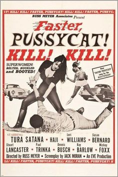 FASTER PUSSYCAT KILL! KILL! vintage movie poster EVE PRODUCTIONS 1965 24X36