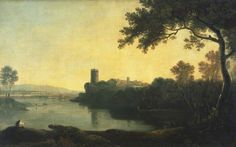 Great British Art: Llyn Peris and Dolbadarn Castle in Wales by Landscape Painter Richard Wilson chw Richard Wilson, Castles In Wales, City Gallery, Art Archive, Great British, Manchester City, Diy Painting, 18th Century, Landscape