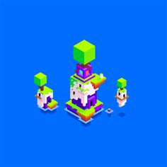 "madeinhexels:  Hexels artwork made by Phil Fish, creator of FEZ: ""here's a little piece of HEXELS art by your's truly to celebrate the release of FZ: Side Z!"" - Phil (via @paulette gonzalez)"
