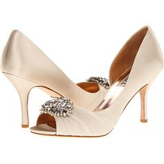 These would make pretty wedding shoes! :)
