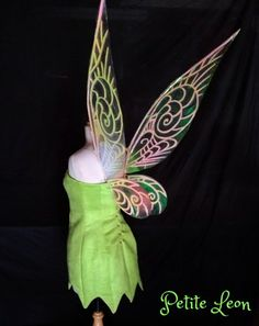 Tinkerbell Adult size wings GLOW in the DARK  | PetiteLeon - Clothing on ArtFire
