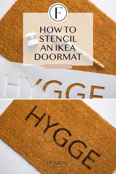 How to stencil an IKEA doormat and a DIY doormat round up! - Doormats - Ideas of Doormats Ikea Mats, Front Door Mats, Diy Door Mats, Front Porch, Make A Door, Coir Doormat, Letter Stencils, Personalized Door Mats, Stencil Diy