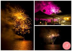 Lake Fireworks | Lake Muskoka Island Cottage Wedding Photos: Kelly and Morgan | © 2015 Samantha Ong Photography samanthaongphoto.com | #samanthaongphoto #muskoka #muskokaweddings #weddings
