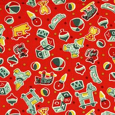 Back Porch Prints Toys - Red - Click Image to Close