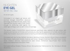 Beauty is in the eye of the beholder. Nlighten Products, Korean Products, Beauty Products, Training And Development, Eye Contour, Eye Gel, Dark Circles, Health And Beauty, Texture