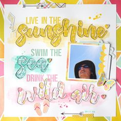 Firefly collection from www.cocoadaisy.com #cocoadaisy #scrapbooking #kitclub #layout