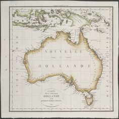 1815 Map of Australia, New Guinea and the eastern islands of Indonesia - Carte de la Nouvelle Hollande.