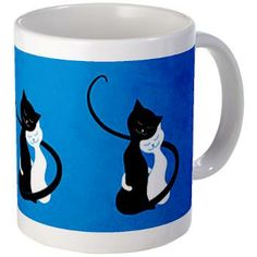 Blue Cats In Love Mug $12.09 #cat #mug #drinkware
