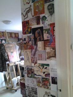 Ateliermuurtje behangen 07 01 2014
