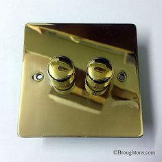Victorian Dimmer Switch Brass 2 Gang 400VA
